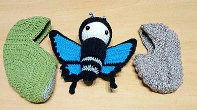 Hračky - Modrý motýľ - vývoj - 10726102_