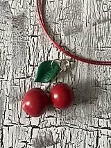 Náušnice - čerešničky čerešne (náhrdelník) - 10724759_