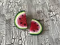 Náušnice - sladké melóniky (1 nakusnutý) - 10724838_