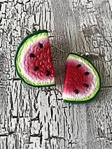 Náušnice - sladké melóniky (1 nakusnutý) - 10724839_
