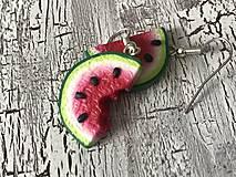 Náušnice - sladké melóniky (1 nakusnutý) - 10724842_
