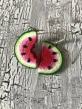 Náušnice - sladké melóniky (1 nakusnutý) - 10724851_