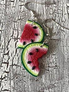 Náušnice - sladké melóniky (1 nakusnutý II.) - 10724866_