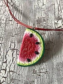 Náušnice - sladké melóniky (náhrdelník) - 10724892_