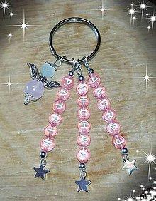 Iné šperky - Vaše oblubene privesky Prívesok alebo klucenka na kluče alebo tašku anjeliky z mačacieho oka a ruženinu - 10729620_