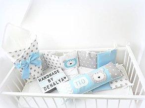 Textil - Sada BASIC /mantinel,vankúš s menom/zavinovačka - 10728107_