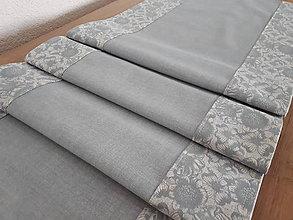 Úžitkový textil - Kvetinová sada v jemných tónoch (Mentolovå) - 10729358_