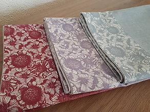 Úžitkový textil - Kvetinová sada v jemných tónoch (Pestrofarebná) - 10729380_