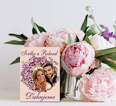 Darčeky pre svadobčanov - Svadobná magnetka s Vašou fotografiou - 10729489_