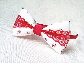 Ozdoby do vlasov - Romantická Pin Up čelenka (bielo-červená) - 10728613_