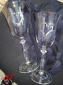 Nádoby - Svadobné poháre - 10729776_