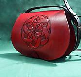 Kabelky - Kožená kabelka s ornamentem - 10727187_