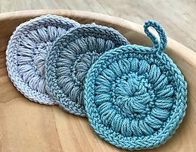 Úžitkový textil - Super jemné odličovacie tampóny z bambusu a bavlny (Tyrkysová) - 10727339_