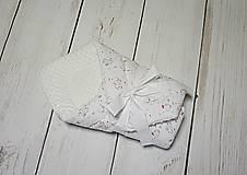 Textil - Zavinovačka biela minky + malé sloníky - 10727292_