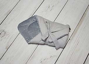 Textil - Zavinovačk sivé bodky + minky - 10727198_
