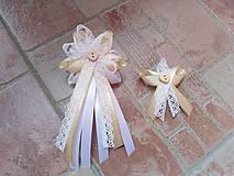 Pierka - Svadobné pierka čipkove - 10727219_