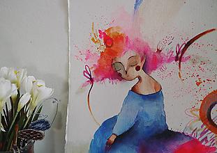 Kresby - Na ružovom oblaku - 10729549_