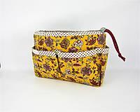 Taštičky - Organizer do kabelky žltý - 10727410_