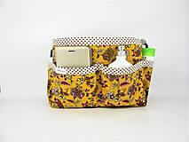 Taštičky - Organizer do kabelky žltý - 10727416_