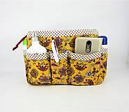 Taštičky - Organizer do kabelky žltý - 10727417_