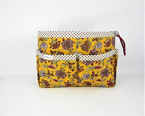 Organizer do kabelky žltý