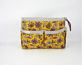 Taštičky - Organizer do kabelky žltý - 10727411_