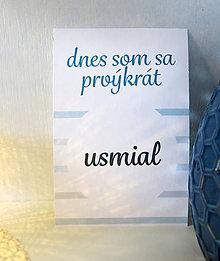 Detské doplnky - Milnikove karticky - pastelová modrá CH - 10728182_