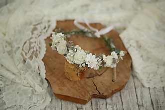 Detské doplnky - Kvetinový venček na prvé sväté prijímanie - 10727527_