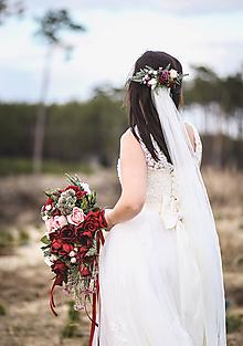 Ozdoby do vlasov - Dlhší svadobný polvenček - 10730614_