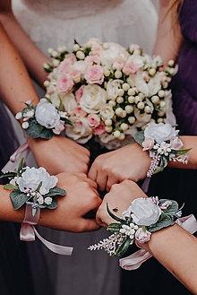 """Náramky - Kvetinový náramok pre družičky """"Rustic"""" - 10730658_"""