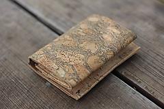 Korková peňaženka unisex originálna kresba I.