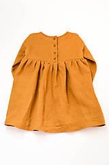 Detské oblečenie - Šaty IDA škoricové - 10727805_