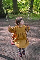Detské oblečenie - Šaty IDA škoricové - 10727811_