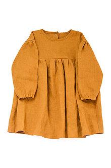 Detské oblečenie - Šaty IDA horčicové - 10727804_