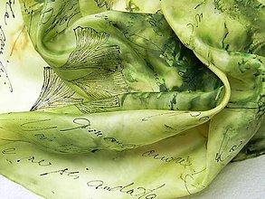 Šály - Listy /hedvábná šála 35 x 130 cm/ - 10727259_