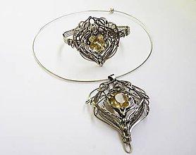 Sady šperkov - citrínové pokušenie - 10729860_