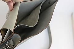 Kabelky - Kožená kabelka Vanessa (šedo-žltá) - 10727286_
