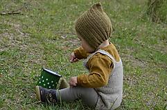 Detské čiapky - Detský čepček biovlna/biobavlna 3 - 6/9 m - 10727155_