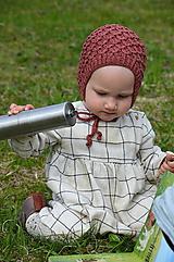 Detské čiapky - Detský čepček biovlna/biobavlna 0 - 24 m - 10730599_