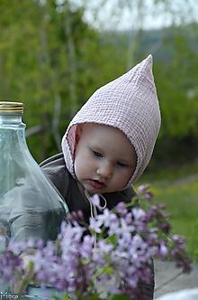 Detské čiapky - Detský čepček škriatkovský 1 - 2 r - 10727803_