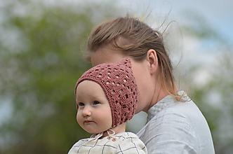 Detské čiapky - Detský čepček biovlna/biobavlna 3 - 6/9 m - 10730607_