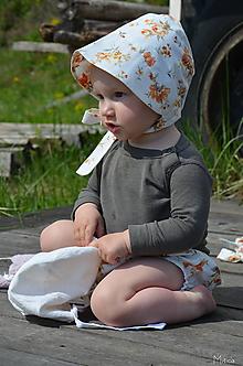 Detské čiapky - Detský čepiec bavlna 6 - 24 m - 10730609_