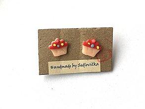 Náušnice - Muffin - 10728163_