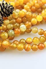 Minerály - medový achát korálky 10mm - 10730428_
