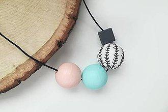 Náhrdelníky - Pastelový náhrdelník - 10729517_