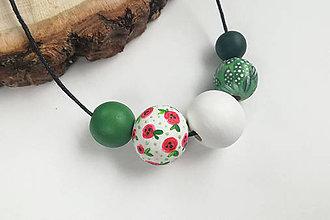 Náhrdelníky - Zelený náhrdelník - 10729532_