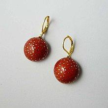 Náušnice - Tana šperky - keramika/zlato - 10730377_