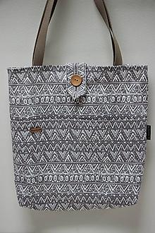 Nákupné tašky - Taška - Béžové tvary 2. - 10727897_