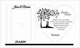 Darčeky pre svadobčanov - Poďakovanie rodičom 4 (hladký okraj) s Foto rámčekom + mená a dátum - 10729789_