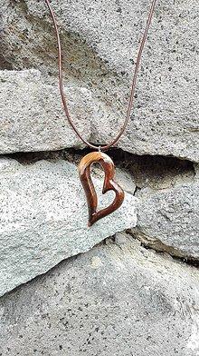 Náhrdelníky - Náhrdelník Čokoládové Srdce z lásky - 10729603_
